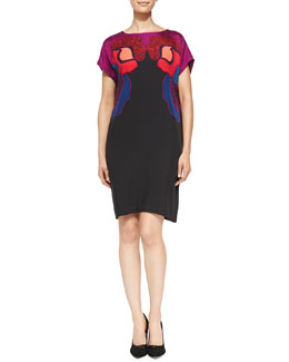 Diane von Furstenberg Harriet Rose Gate Cerise Dress