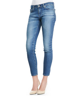 AG Adriano Goldschmied 18 Years Faded Cropped Skinny Ankle Jeans