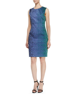 T Tahari Dakota Sleeveless Printed Dress