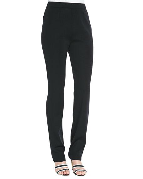 Straight-Leg Jersey Pants, Petite