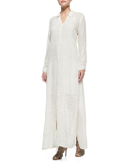 Johnny Was Collection Georgette Button-Front Long Dress, Plus