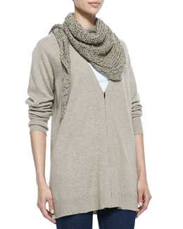 Eileen Fisher Fuzzy Fine Open Twist Scarf