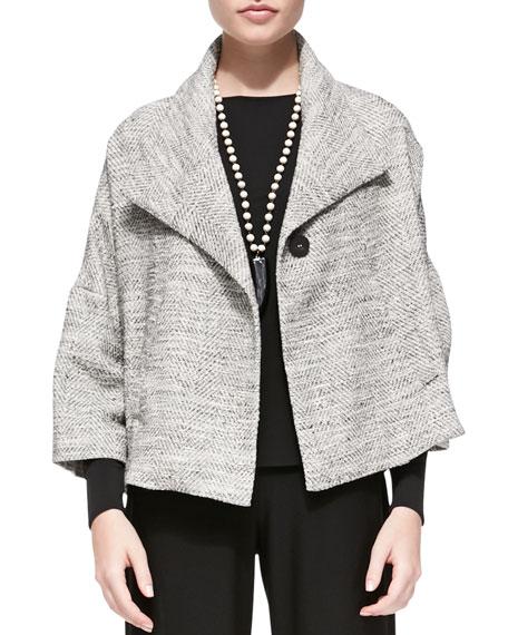 3/4-Sleeve A-line Jacket
