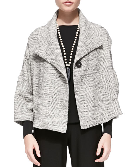 3/4-Sleeve A-line Jacket, Women's