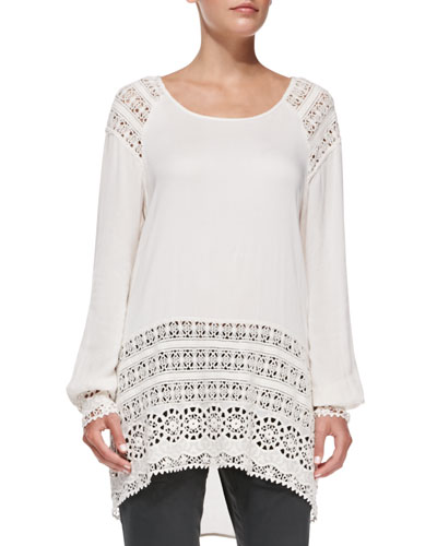 XCVI Casey Tunic with Lace Trim