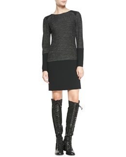 Rag & Bone Howard Two-Tone Tweed Shift Dress