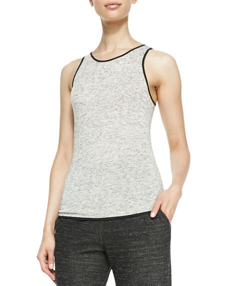 Spine Solid-Trim Slub Tank
