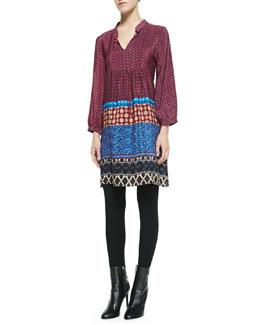 Tolani Sava Printed Silk Tunic