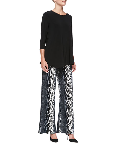 Tribal Stripe Wide-Leg Pants, Women's