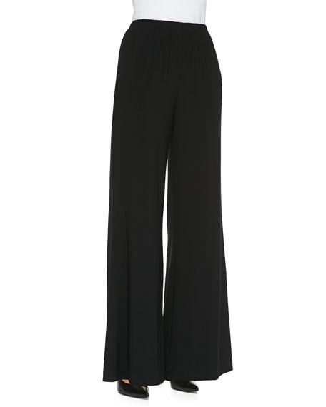Caroline Rose Stretch Knit Wide-Leg Pants, Women's