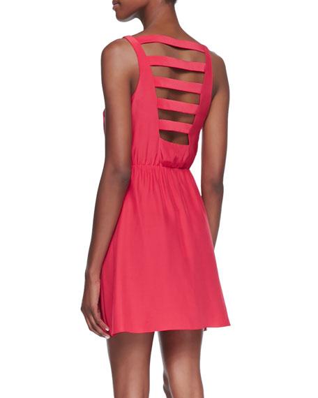 Chloe Strappy Cutout Dress, Strawberry
