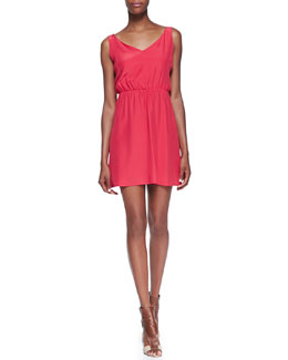 Amanda Uprichard Loves Cusp Chloe Strappy Cutout Dress, Strawberry