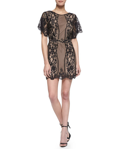 For Love & Lemons San Marcos Open-Back Lace Dress