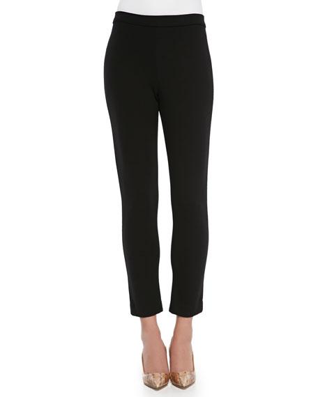 Joan Vass Ponte Slim Ankle Pants, Plus Size