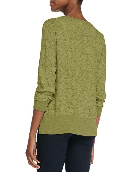 Aveley Slub Knit Sweatshirt Top, Hunter