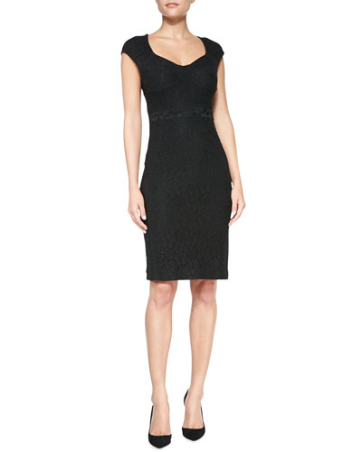 Diane von Furstenberg Katrina Cap-Sleeve Lace Sheath Dress