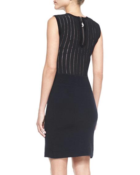 Sleeveless Body-Conscious Blend Dress