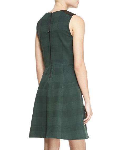 Gayle Check A-Line Dress