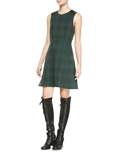 Rag & Bone Gayle Check A-Line Dress