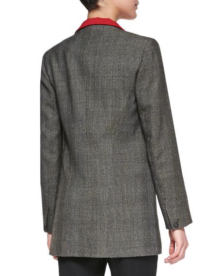 Paloma Contrast-Lapel Wool Blazer
