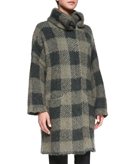 Cammie Check Sweater Coat