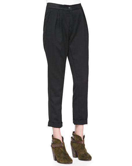 Em Wool Cropped Pants