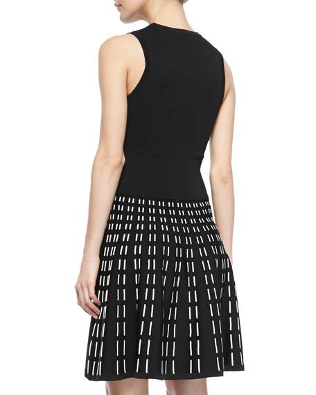 Houston Sleeveless Printed-Skirt Dress