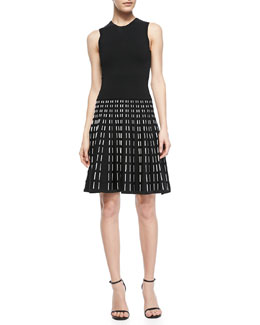 A.L.C. Houston Sleeveless Printed-Skirt Dress