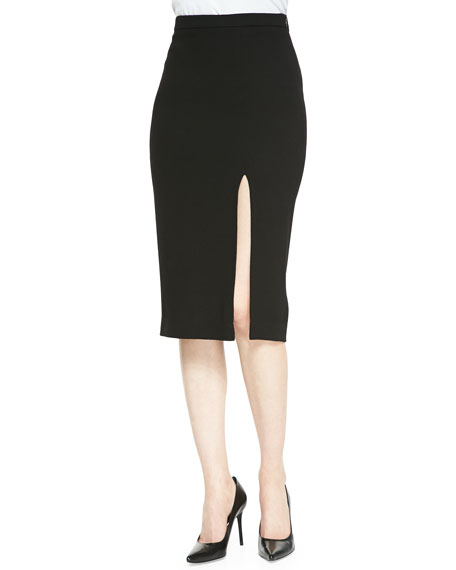 Tonne Pencil Skirt With Front Slit