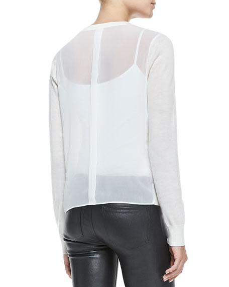 Theodate Sheer Ribbed-Hem Sweater