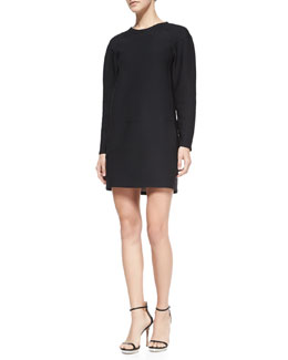 J Brand Ready to Wear Colleen Long-Sleeve Scuba Dress