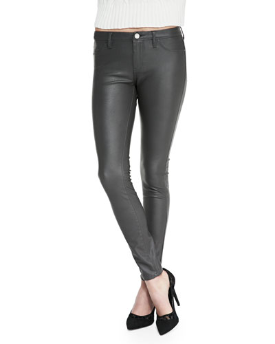 Blank Day Faux-Leather Leggings, Gray