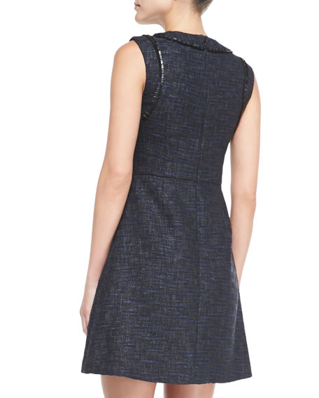 Abbie Lacquered Tweed Dress