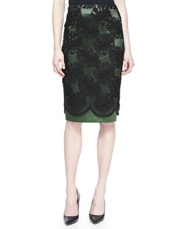 Jason Wu Corded Lace Overlay Skirt