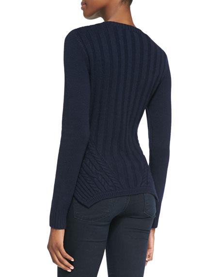 Daisum Chain-Knit Sweater, Blue