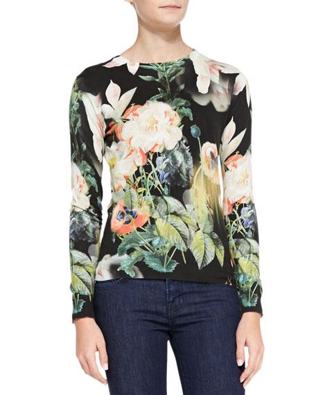 Noorie Opulent Bloom-Print Sweater