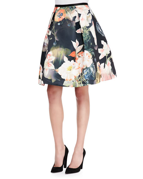 Paladia Opulent Bloom-Print Full Skirt