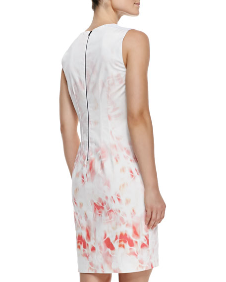 Maren Printed Sleeveless Sheath Dress