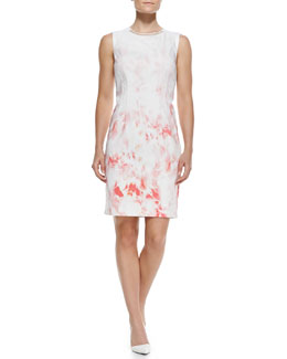Elie Tahari Maren Printed Sleeveless Sheath Dress