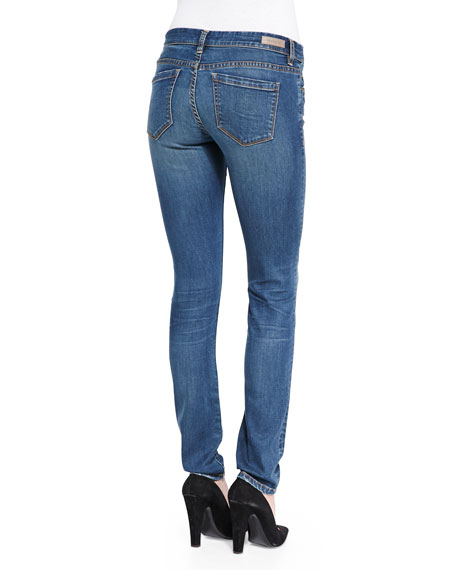 Distressed Medium Wash Skinny Jeans, Blue
