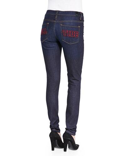 Alabama™ Roll Tide Branded Skinny Jeans, Blue