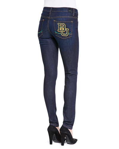 OCJ Denim Baylor™ Branded Skinny Jeans, Blue