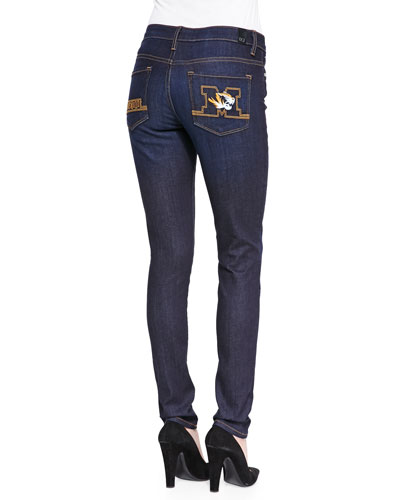 Mizzou® Branded Skinny Jeans, Blue