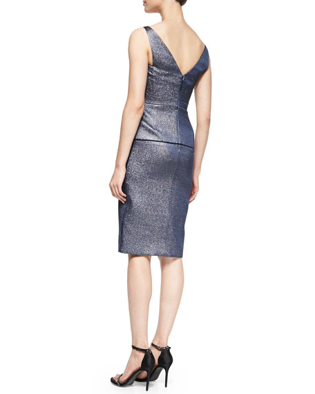 Fitted Bustier Dress, Eclipse