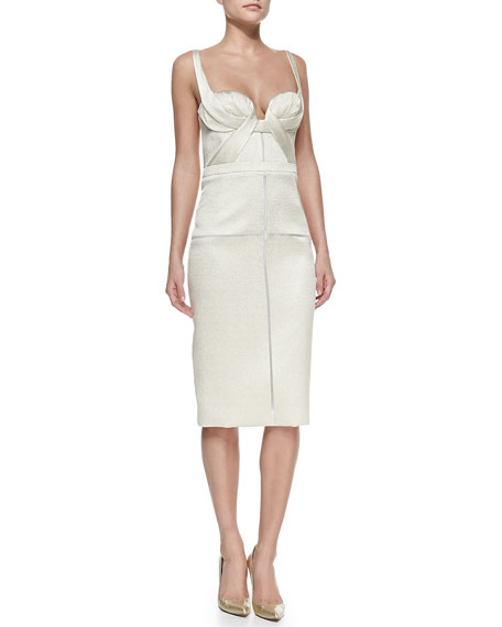 Fitted Bustier Dress, Pearl