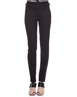 Jason Wu Bi-Stretch Wool Utility Pants, Black