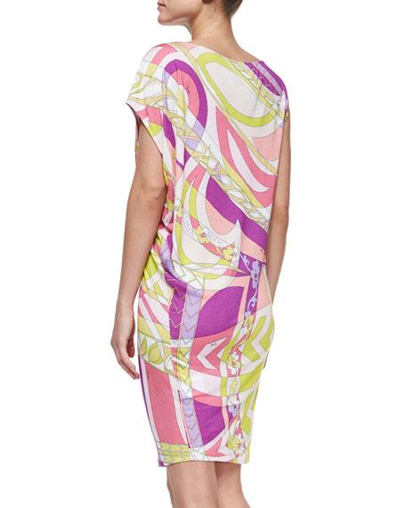 Printed Slub-Jersey Coverup Dress