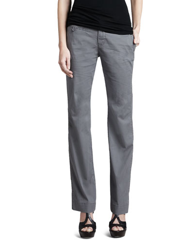 Christopher Blue Rosie Relaxed Dobby Trousers