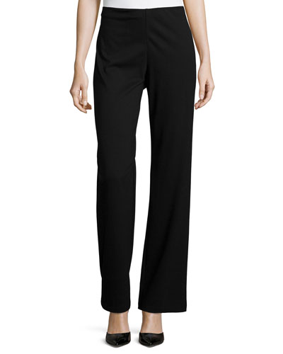 Straight-Leg Ponte Pants, Women
