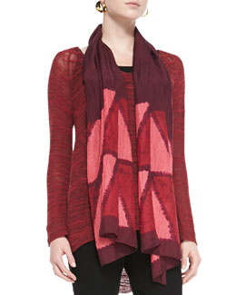Eileen Fisher Silk Shibori Icons Scarf, Plum